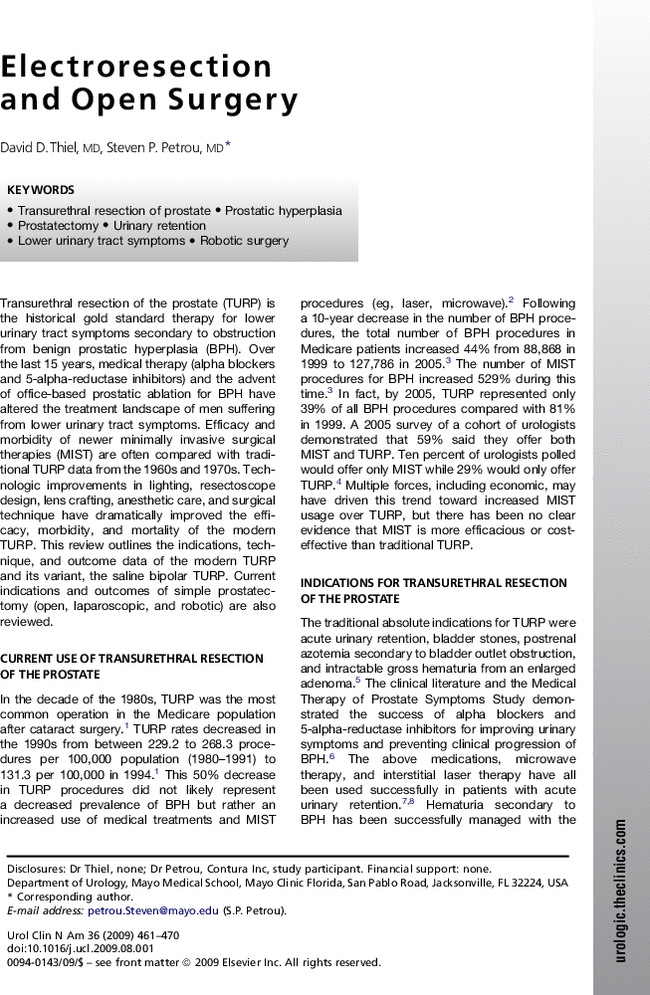transurethral resection of the prostate articles pdf